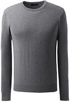 Lands' End Men's Tall Fine Gauge Cashmere Crewneck Sweater-Classic Navy