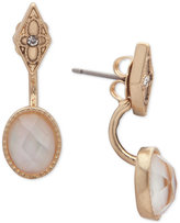 lonna & lilly Gold-Tone Pavé & White Stone Ear Jacket Earrings