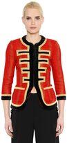 Givenchy Lurex & Velvet Trimmed Tweed Jacket
