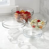"Crate & Barrel Glass Nesting Bowl 10-Piece Set, 2.25""-10.25"""