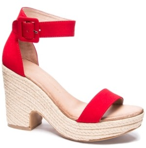 Chinese Laundry Queen Wedge Sandals Women's Shoes