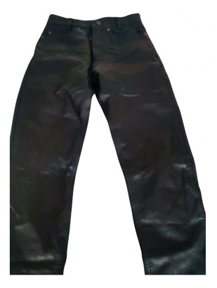Brixton Black Leather Trousers