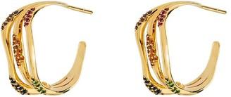 Joanna Laura Constantine Gold-Plated Gemstone Embellished Hoop Earrings