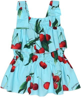 Dolce & Gabbana Kids Exclusive to Mytheresa a cherry printed cotton top