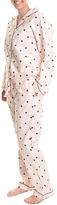 Angelina Pink Heart Giftable Flannel Pajama Set