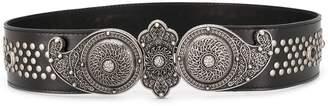Etro Studded Wide Leather Belt