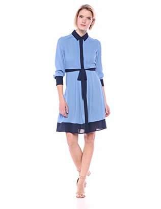 Nanette Lepore Nanette Women's Color-Blocked Shirtdress W/H