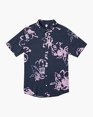 RVCA Men's Vaughn Linear Button-Up Shirt