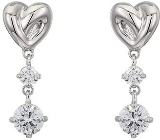 Swarovski Lifelong Heart Pierced Earrings (CZ White) Earring