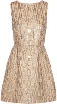 Alice + Olivia Lindsey Embellished Cotton Mini Dress