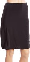 Joan Vass Black Light Compression Seamless Long-Leg Half Slip - Plus Too