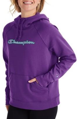 Champion Women's Powerblend Fleece Pullover Hoodie-Applique