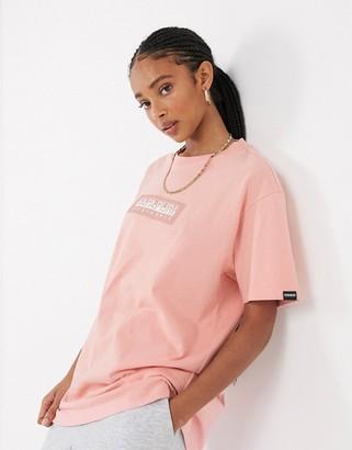 Napapijri Sox t-shirt in pink