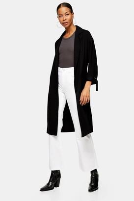 Topshop Womens Black Duster Coat - Black