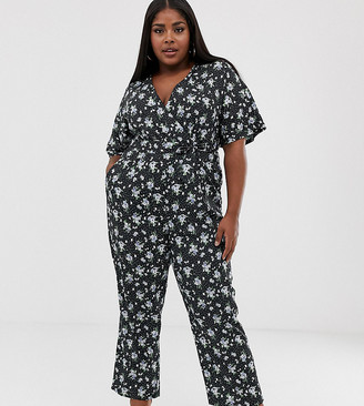 Uttam Boutique Plus floral wrap jumpsuit
