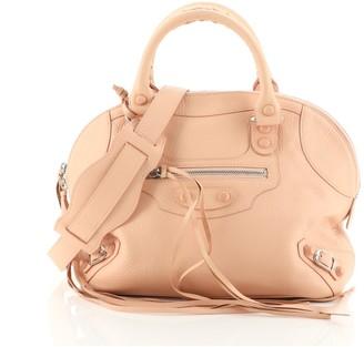 Balenciaga Bowling Covered Classic Studs Bag Leather Medium