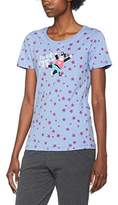 Hatley Little Blue House by Women's Short Sleeve Crew Neck Appliqué Tee Pyjama Top, NA