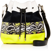 Proenza Schouler Striped Buffalo and Calfskin Leather Bucket Bag