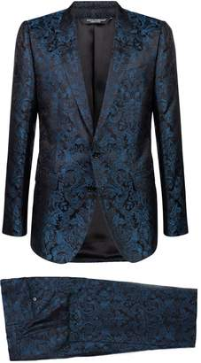 Dolce & Gabbana Silk Paisley Two-Piece Suit