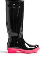 Hunter Black Neon Sole Original Boot