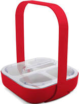 Zak Designs 4-Section Serving Caddy with Handle & Lid