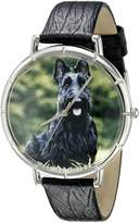 Whimsical Watches Women's T0130067 Scottie Black Leather And Silvertone Photo Watch