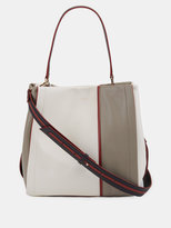 DKNY Greenwich Smooth Leather Colorblock Bucket Bag