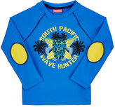 Sunuva Surf & Skull Motif Rash Guard-BLUE