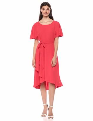 Anne Klein Women's Flutter Sleeve SASH Dress