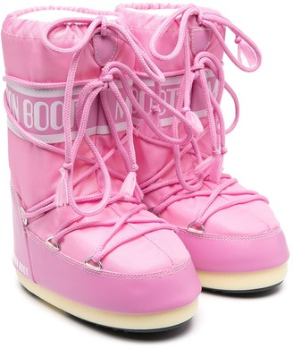 MOON BOOT KIDS Pink-Tone Moon Boots