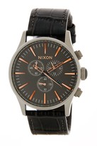 Nixon Men's Sentry Chrono Leather Watch