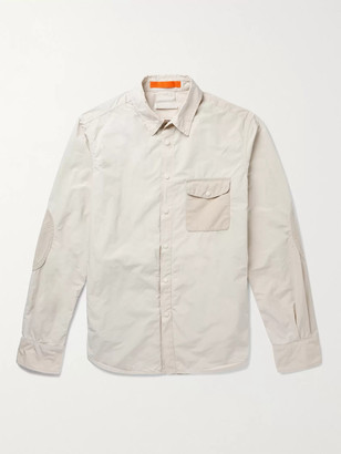 Aspesi Faux Suede-Trimmed Shell Overshirt