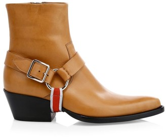 Calvin Klein Tex Harness Leather Ankle Boots