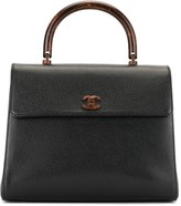 Chanel Pre Owned wooden handle tote