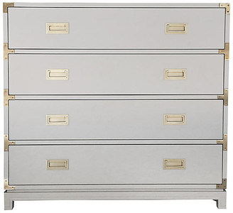 Ave Home Carlyle 4-Drawer Campaign Dresser - Gray