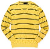 Nautica Men's V-Neck Luxury Performance Striped Sweater Light Mimosa Heather XL