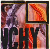 Givenchy logo flame mineral print scarf