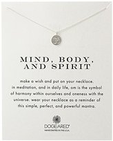 "Dogeared Reminder ""Mind, Body, and Spirit"" Sterling Silver Om Pendant Necklace, 18"""