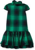 Ralph Lauren Plaid Twill Mockneck Dress