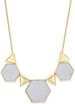ABS by Allen Schwartz Gold-Tone Glitter Geometric Collar Necklace