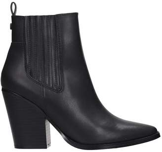 KENDALL + KYLIE Colt High Heels Ankle Boots In Black Leather