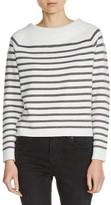 Maje Women's Bow Back Stripe Sweater