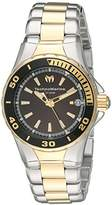 Technomarine Women's Quartz Watch with Black Dial Analogue Display and Gold Stainless Steel Bracelet TM-215061