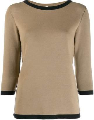Antonio Marras contrast trim wool sweater