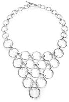 Trina Turk Silver Lining Round Linked Bib Necklace