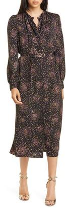 Kate Spade Disco Dots Long Sleeve Midi Dress