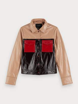 Scotch & Soda Patent Leather Jacket