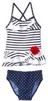 Flapdoodles Nautical 2-Piece Swimsuit Set (Little Girls)