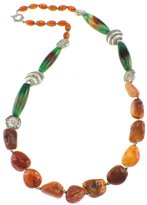 Pearlz Ocean Fashion Necklace, Carnelian and Agate Jewelry for Women