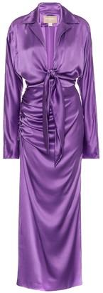Matã©Riel Tbilisi Silk-satin midi dress